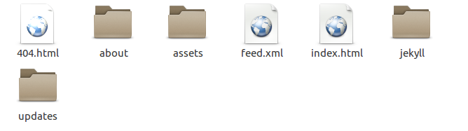 Jekyll generates your static site into the _site folder.